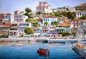 Художники в Греции