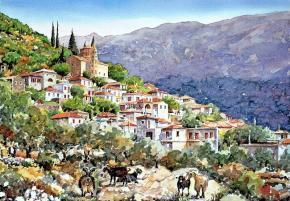 пленэр художников в Греции